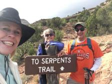 Linda, Janice and Michael at Serpents Trailhead
