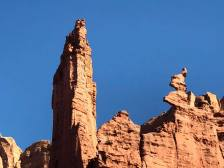 Pinnacle and fin rock formations
