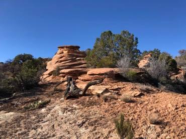Hoodoos along the trail