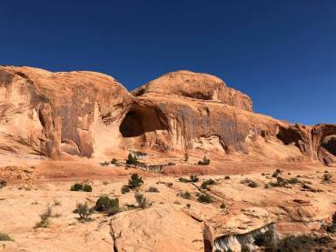 Dome rock formations in background