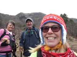 Marlys, Michael and Linda taking a selfie break
