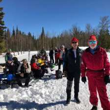 Michal and Einar getting ready to hit the trails after picnic lunch