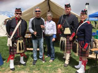 Michael and Janice with three 75th N.Y Highlands Guard