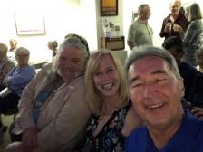 John, Linda and Michael enjoying the music