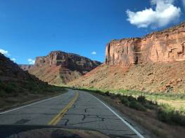On the road to Fisher Towers Trail near Moab, Utah