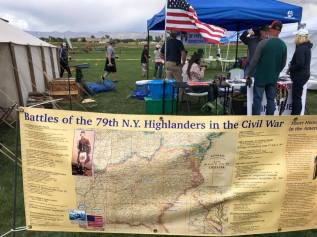 d Janice wit75th N.Y Highlands Guard sign