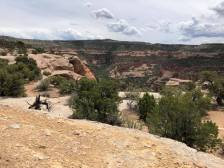 Overlook of the canyon where the arches are located