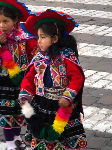 Young Cusco girl in native costum