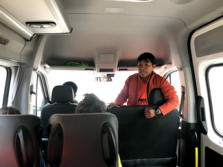 Juan Carlos giving us final instructions on the van to the trailhead