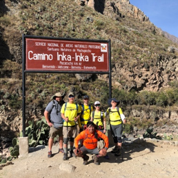 Michael's team at the Inca Trail starting point (Km 82)